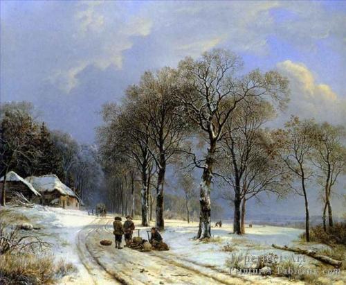 4-Hiver-Paysage-Hollandais-Barend-Cornelis-Koekkoek.jpg